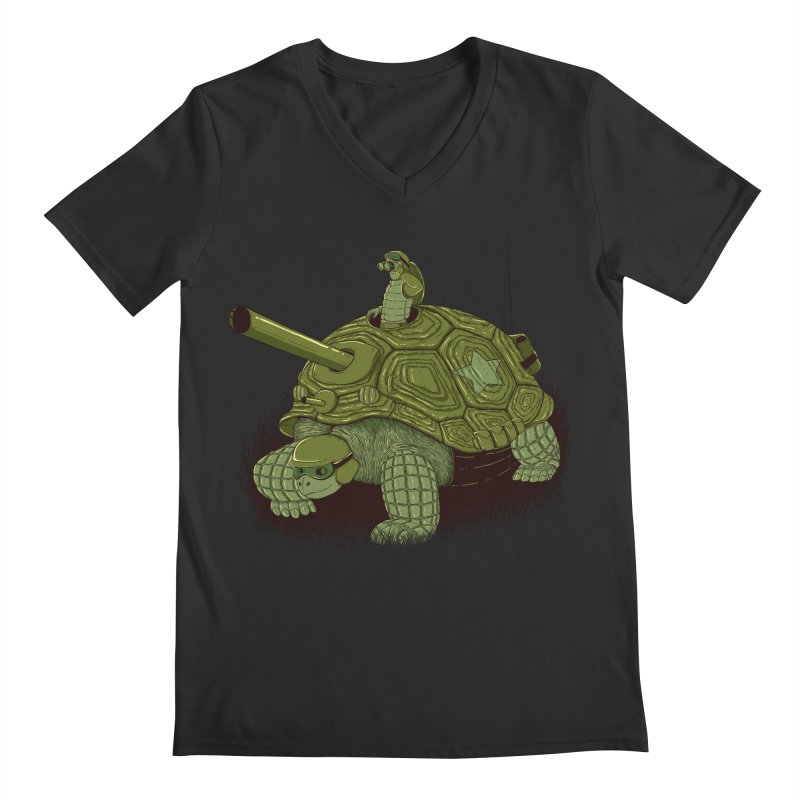Slow Patrol Men's V-Neck by monochromefrog