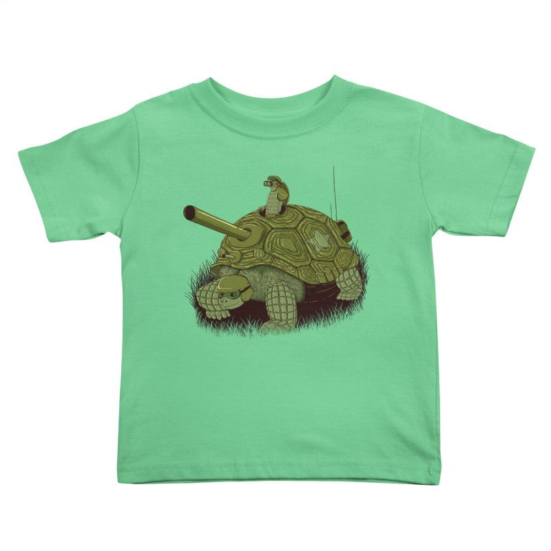 Slow Patrol Kids Toddler T-Shirt by monochromefrog