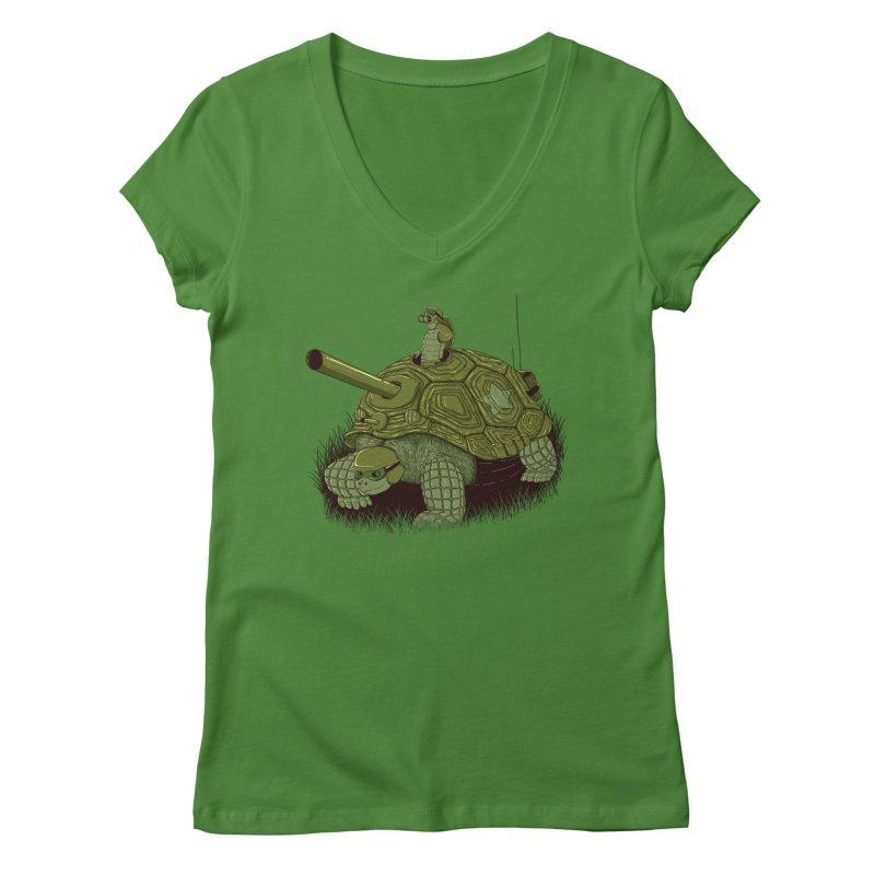 Slow Patrol Women's V-Neck by monochromefrog