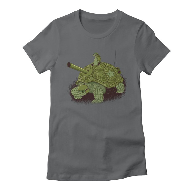 Slow Patrol Women's Fitted T-Shirt by monochromefrog