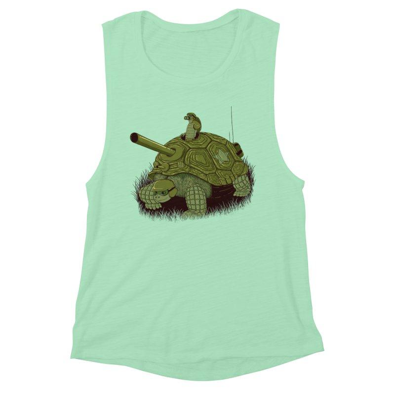 Slow Patrol Women's Muscle Tank by monochromefrog