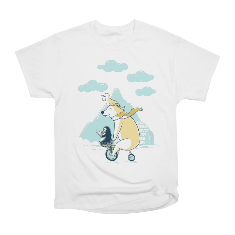 Icy Expedition Men's T-Shirt by monochromefrog
