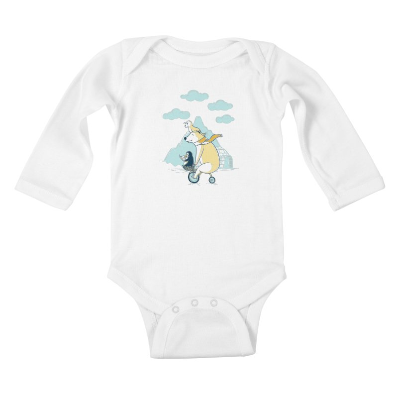 Icy Expedition Kids Baby Longsleeve Bodysuit by monochromefrog