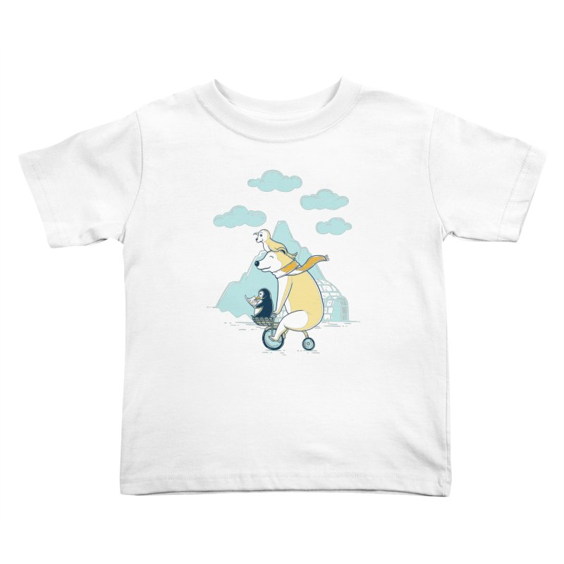 Icy Expedition Kids Toddler T-Shirt by monochromefrog