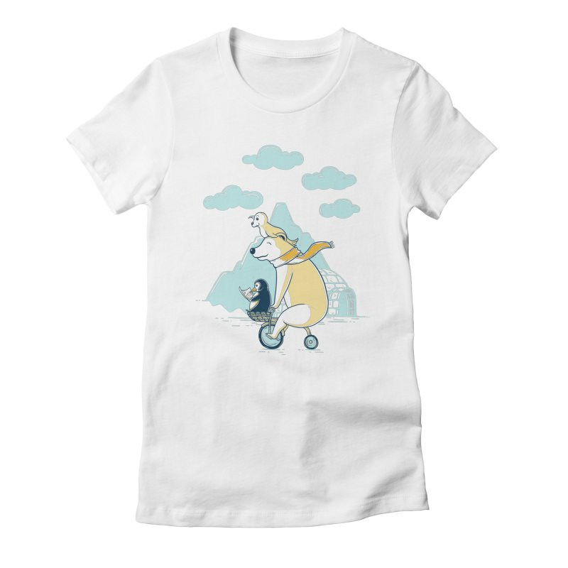 Icy Expedition Women's T-Shirt by monochromefrog