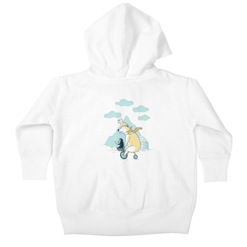 Icy Expedition Kids Baby Zip-Up Hoody by monochromefrog