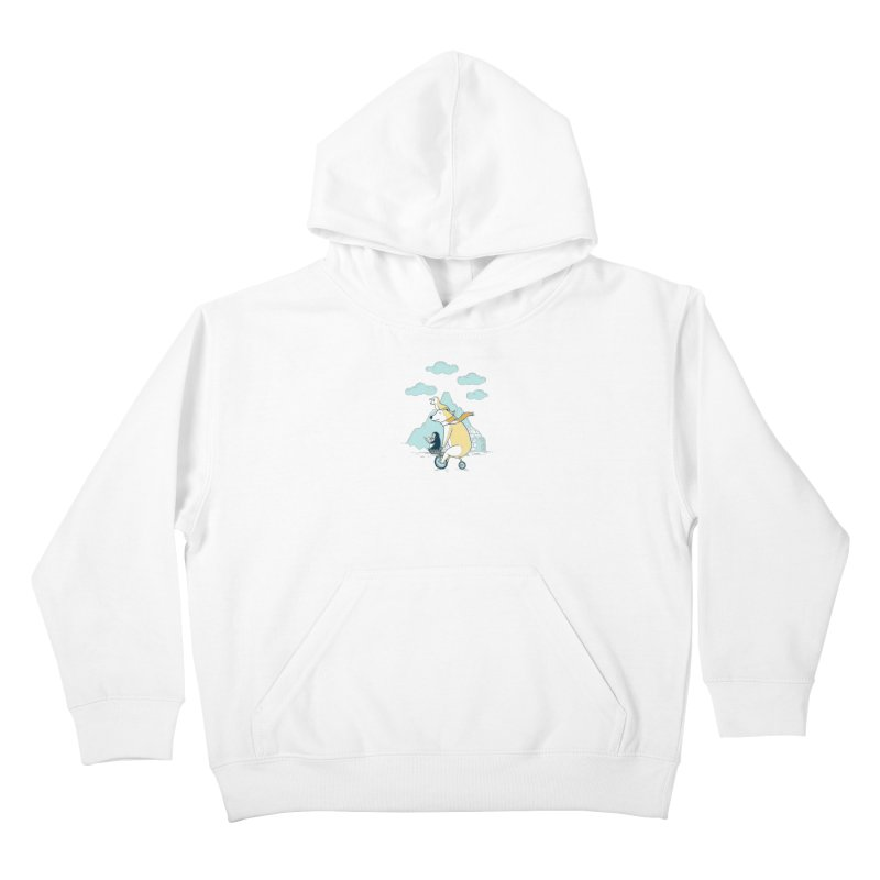 Icy Expedition Kids Pullover Hoody by monochromefrog