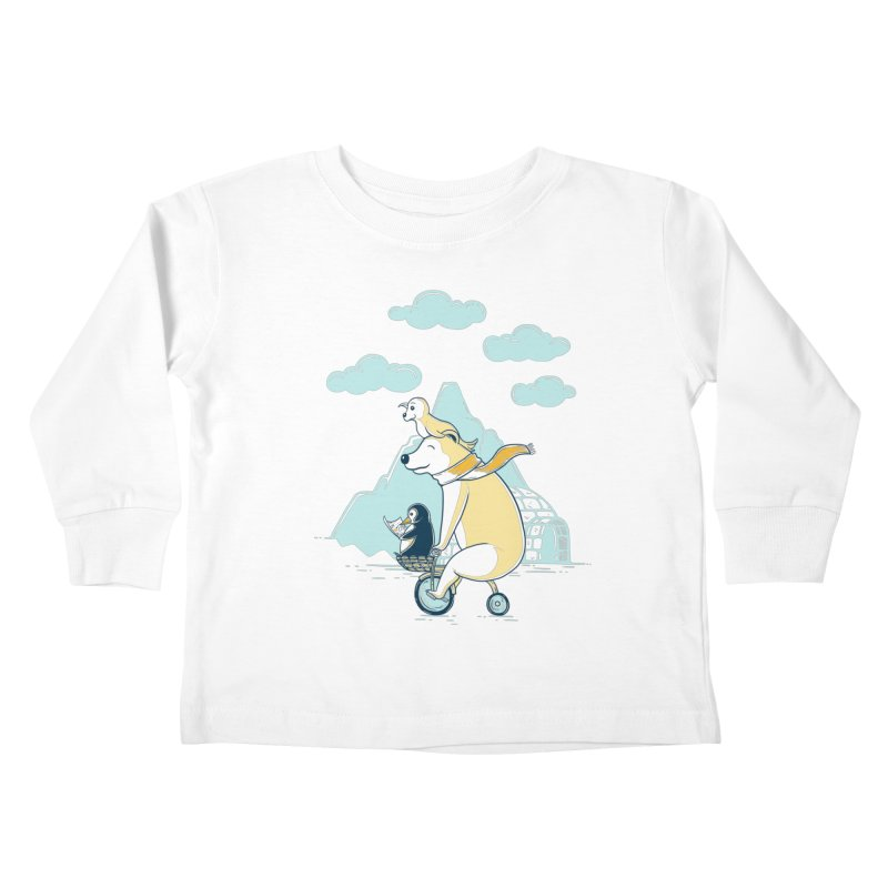 Icy Expedition Kids Toddler Longsleeve T-Shirt by monochromefrog