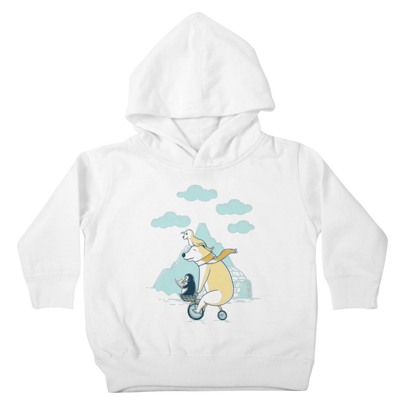 Icy Expedition Kids Toddler Pullover Hoody by monochromefrog