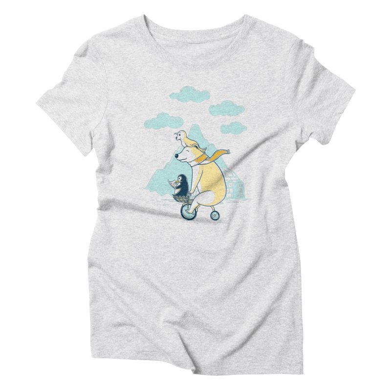 Icy Expedition Women's Triblend T-Shirt by monochromefrog