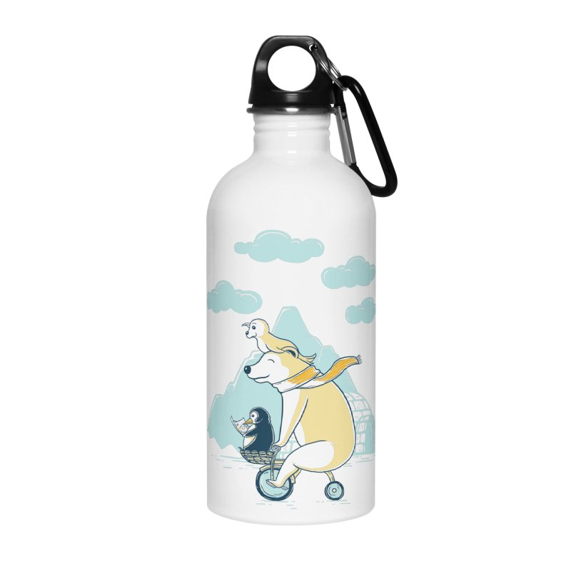 Icy Expedition Accessories Water Bottle by monochromefrog