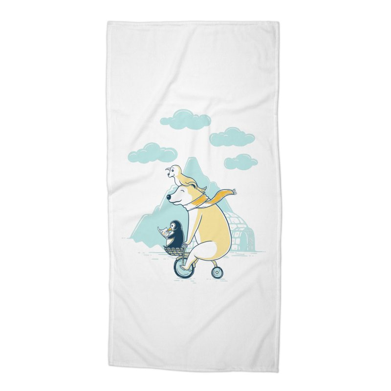 Icy Expedition Accessories Beach Towel by monochromefrog