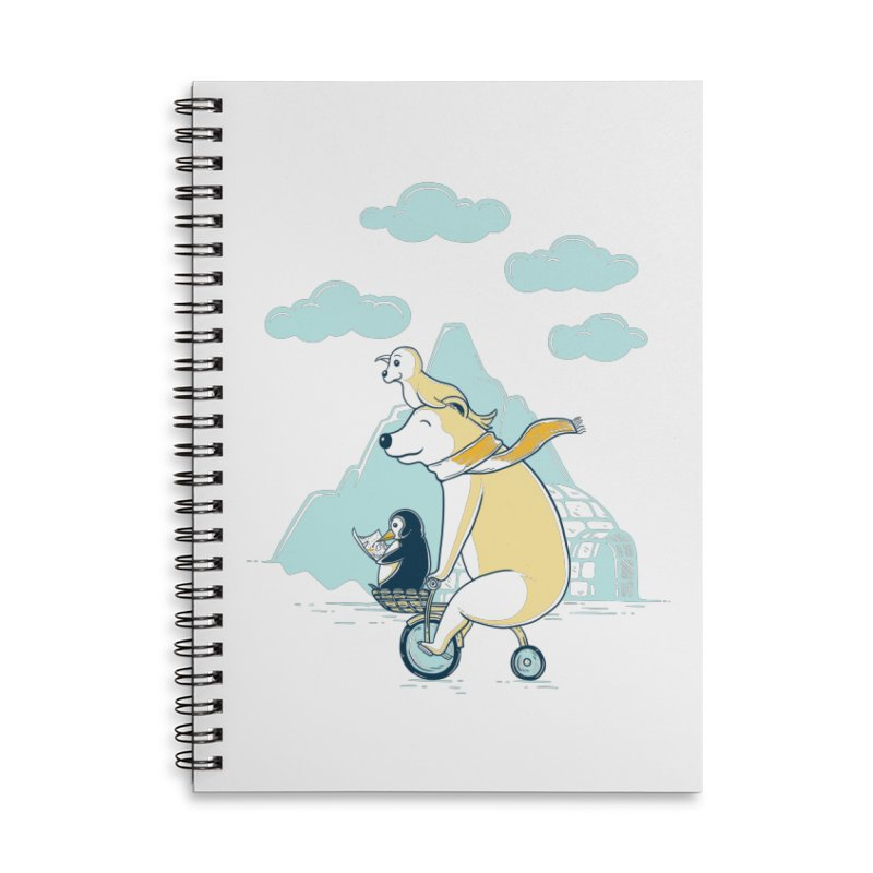 Icy Expedition Accessories Lined Spiral Notebook by monochromefrog