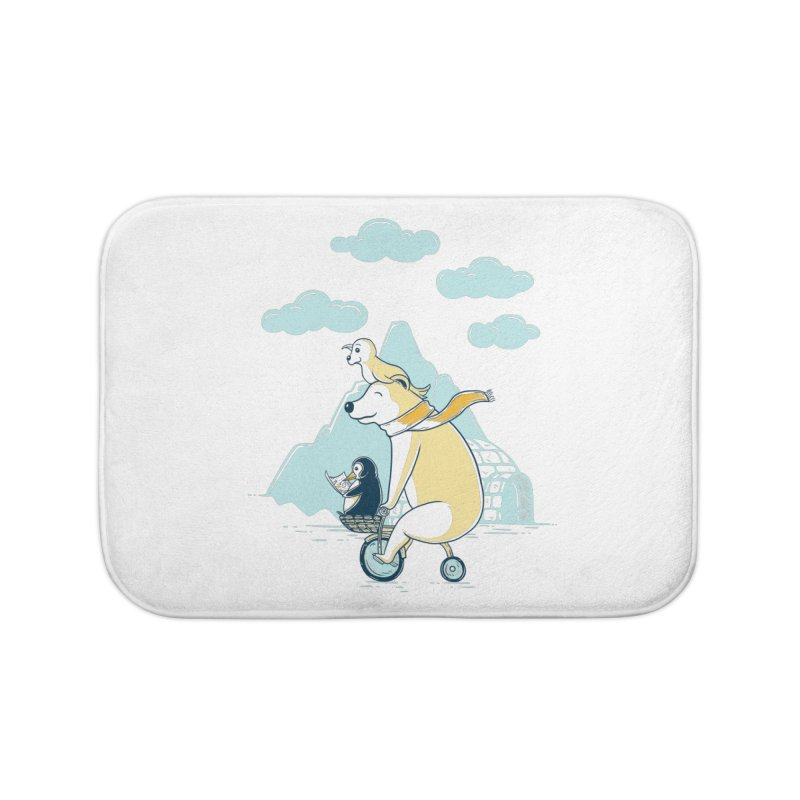 Icy Expedition Home Bath Mat by monochromefrog