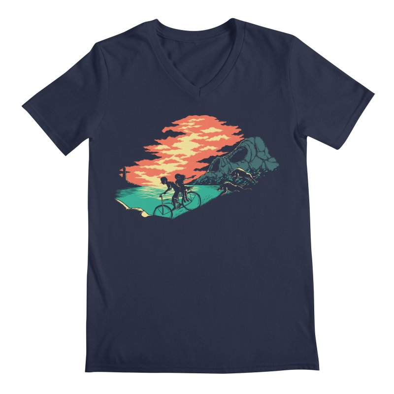 Love Adventure Men's V-Neck by monochromefrog