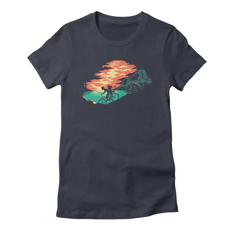 Love Adventure Women's Fitted T-Shirt by monochromefrog