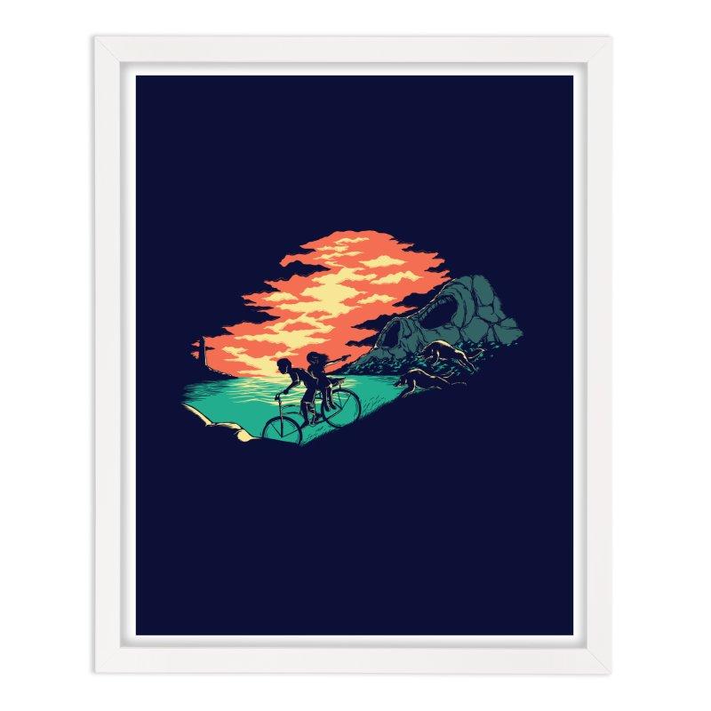 Love Adventure Home Framed Fine Art Print by monochromefrog