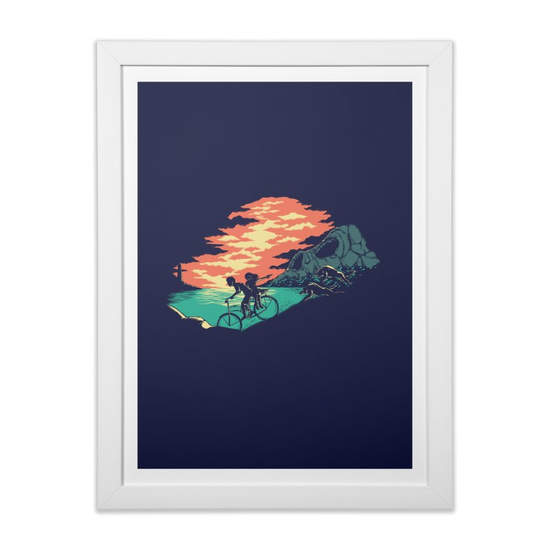Love Adventure Home Framed Fine Art Print by monochromefrog