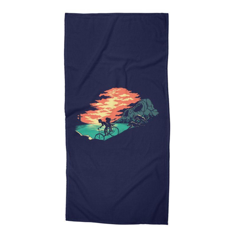 Love Adventure Accessories Beach Towel by monochromefrog