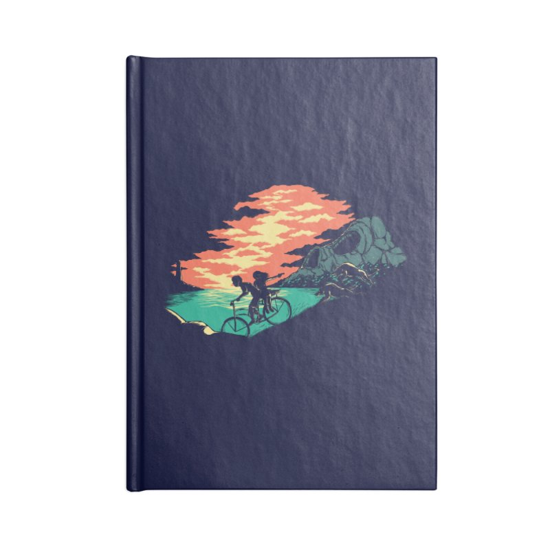 Love Adventure Accessories Lined Journal Notebook by monochromefrog