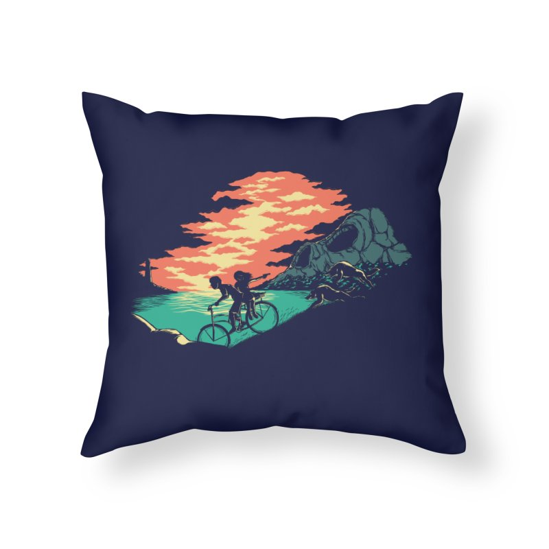 Love Adventure Home Throw Pillow by monochromefrog