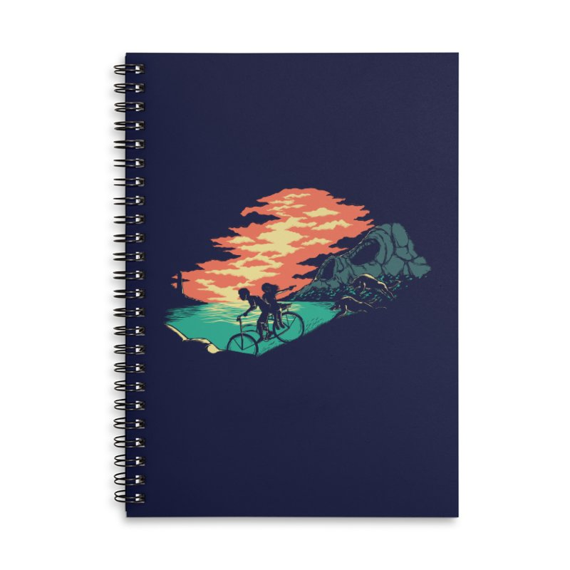 Love Adventure Accessories Lined Spiral Notebook by monochromefrog