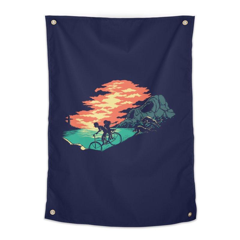 Love Adventure Home Tapestry by monochromefrog