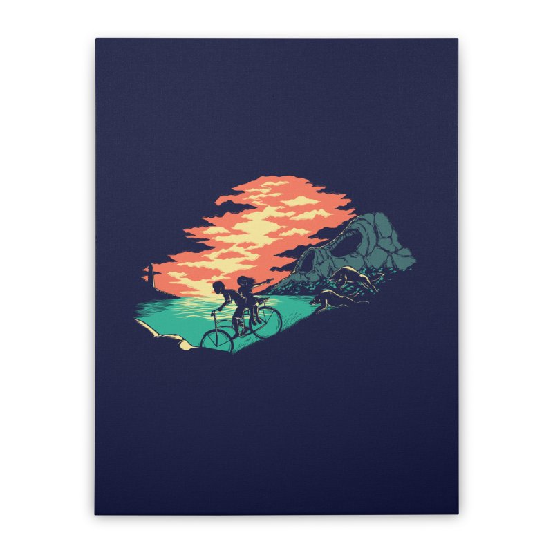 Love Adventure Home Stretched Canvas by monochromefrog
