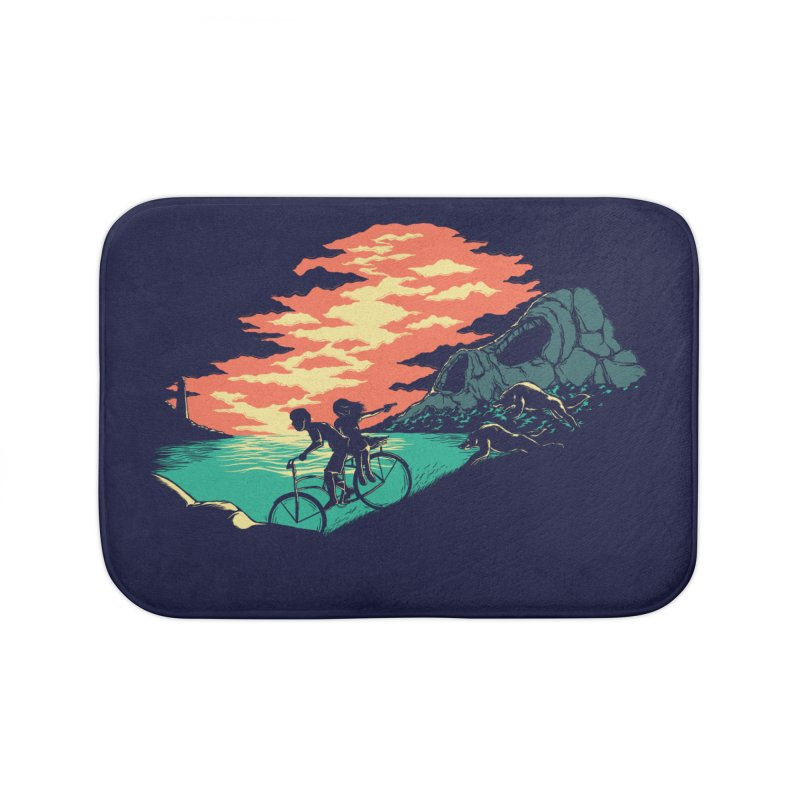 Love Adventure Home Bath Mat by monochromefrog