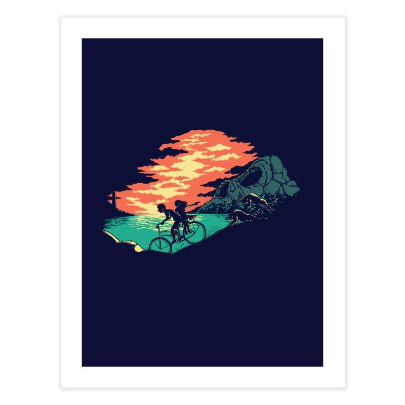 Love Adventure Home Fine Art Print by monochromefrog