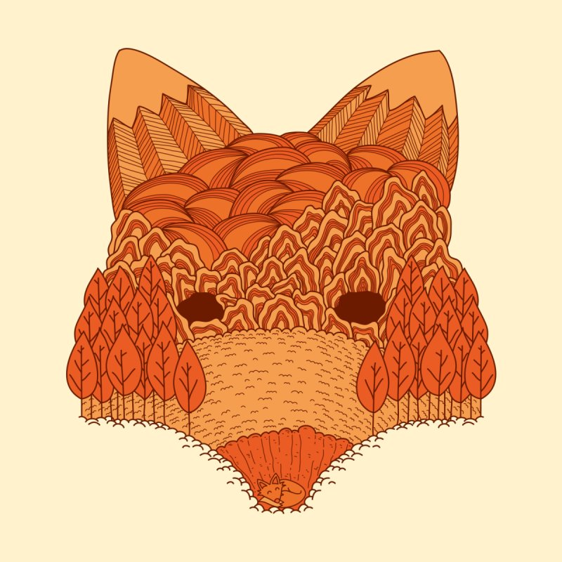 Where The Fox Hides Home Fine Art Print by monochromefrog