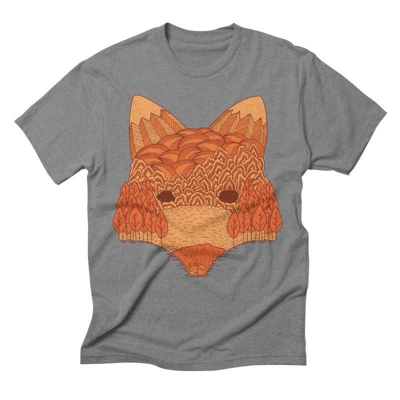 Where The Fox Hides Men's T-Shirt by monochromefrog