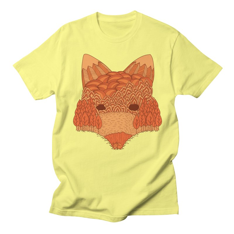 Where The Fox Hides Men's T-Shirt by monochromefrog