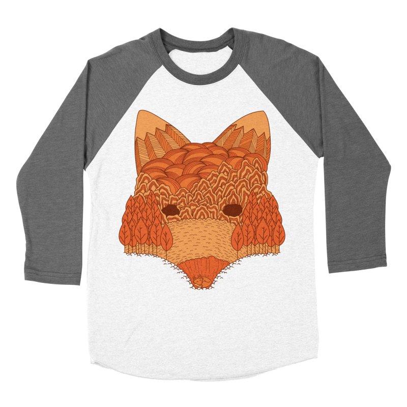 Where The Fox Hides Men's Longsleeve T-Shirt by monochromefrog