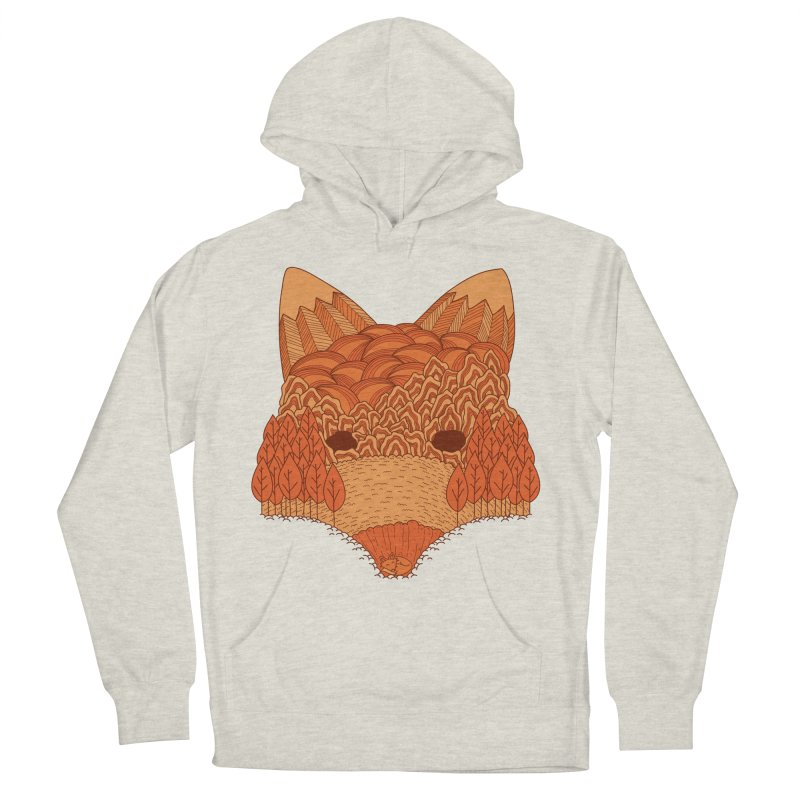 Where The Fox Hides Women's French Terry Pullover Hoody by monochromefrog
