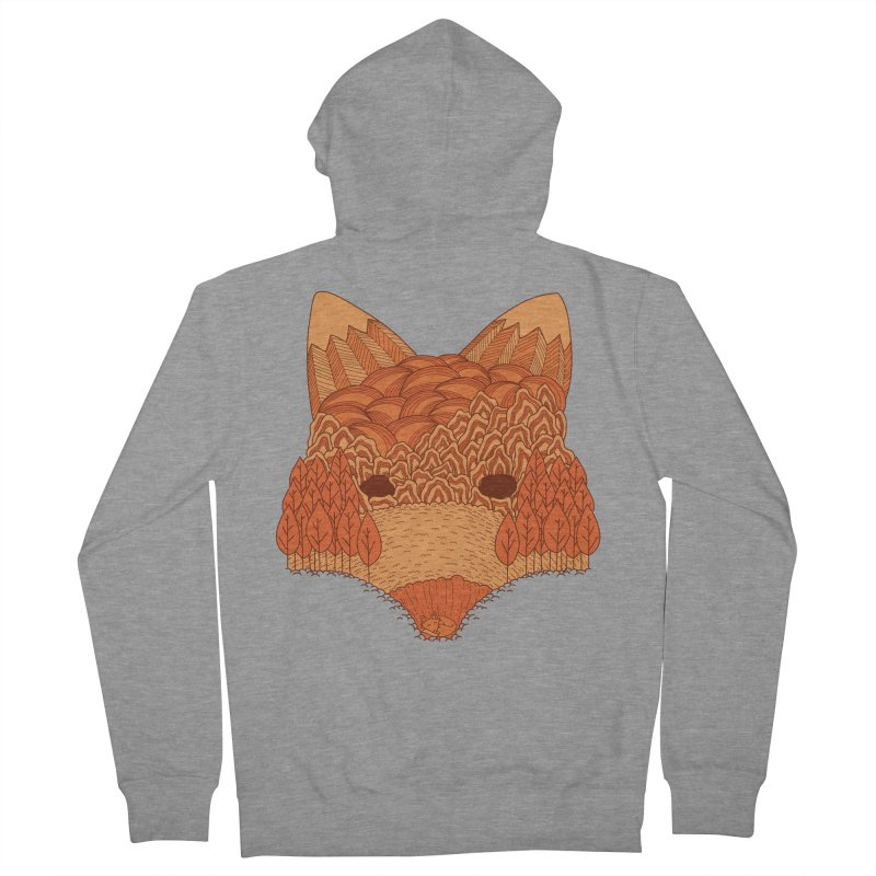Where The Fox Hides Men's French Terry Zip-Up Hoody by monochromefrog