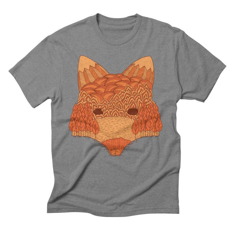 Where The Fox Hides Men's Triblend T-Shirt by monochromefrog