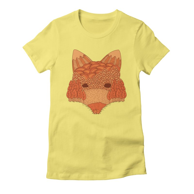 Where The Fox Hides Women's T-Shirt by monochromefrog