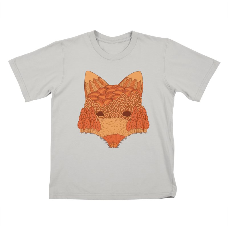 Where The Fox Hides Kids T-shirt by monochromefrog