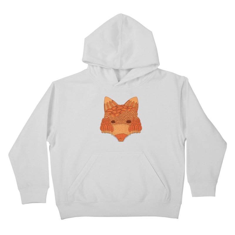 Where The Fox Hides Kids Pullover Hoody by monochromefrog