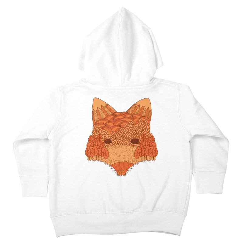 Where The Fox Hides Kids Toddler Zip-Up Hoody by monochromefrog