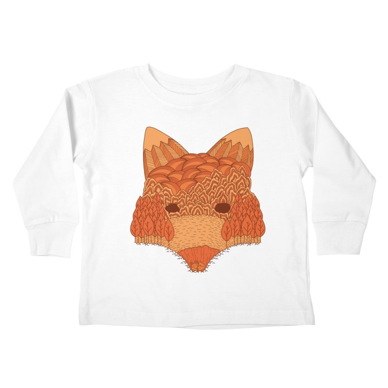 Where The Fox Hides Kids Toddler Longsleeve T-Shirt by monochromefrog