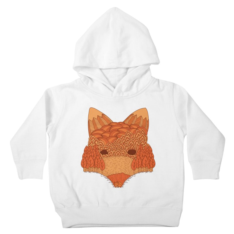 Where The Fox Hides Kids Toddler Pullover Hoody by monochromefrog