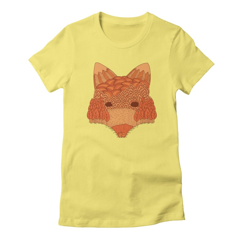 Where The Fox Hides Women's T-Shirt by monochromefrog