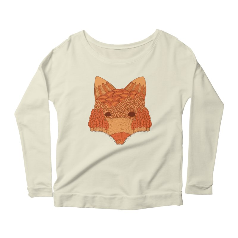 Where The Fox Hides Women's Longsleeve Scoopneck  by monochromefrog