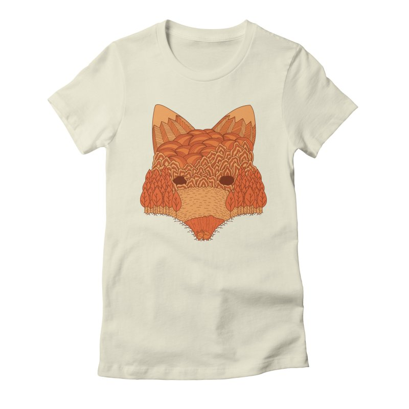 Where The Fox Hides Women's Fitted T-Shirt by monochromefrog