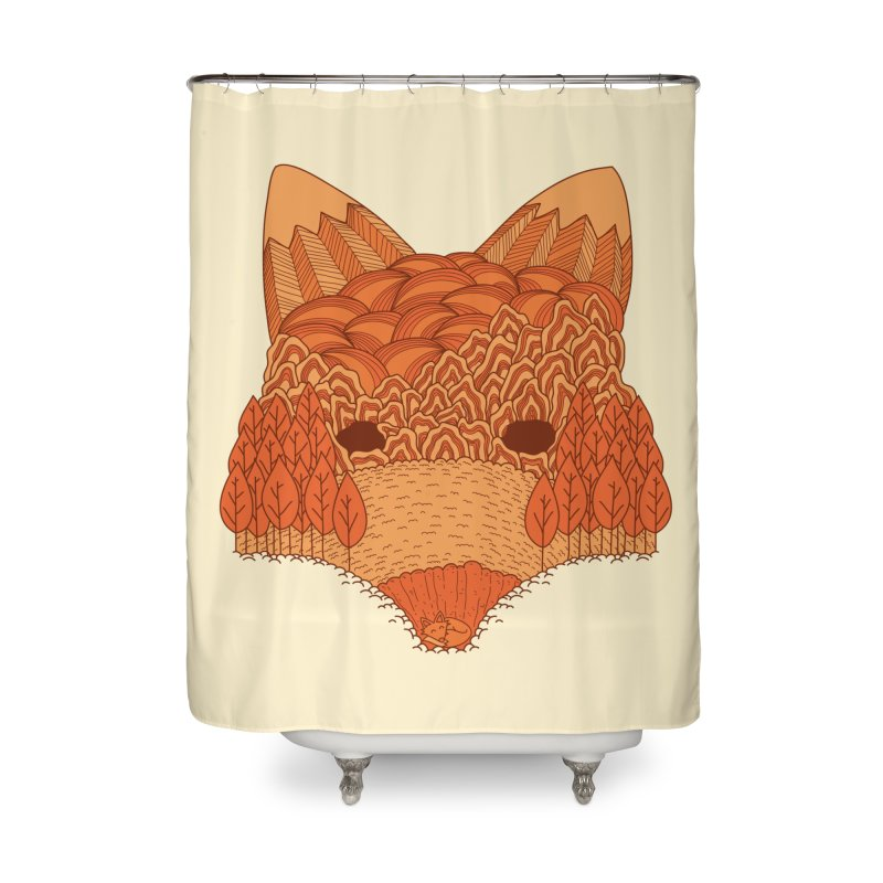 Where The Fox Hides Home Shower Curtain by monochromefrog