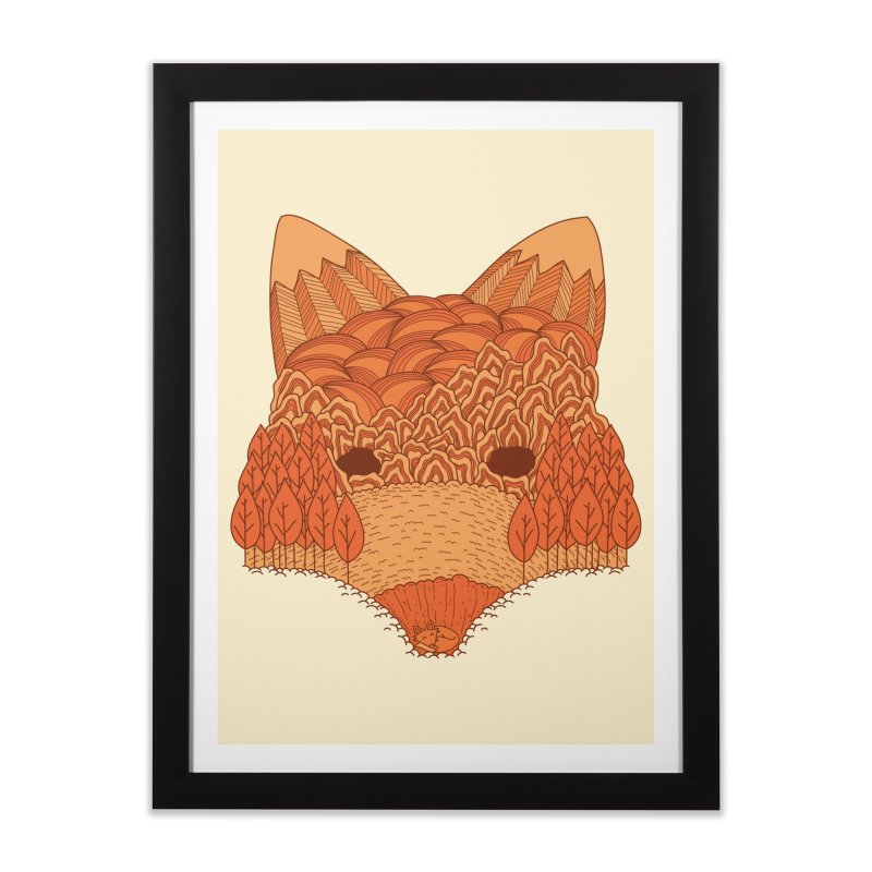 Where The Fox Hides Home Framed Fine Art Print by monochromefrog
