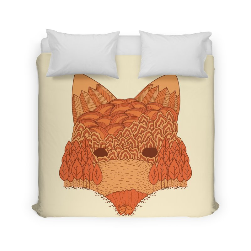 Where The Fox Hides Home Duvet by monochromefrog