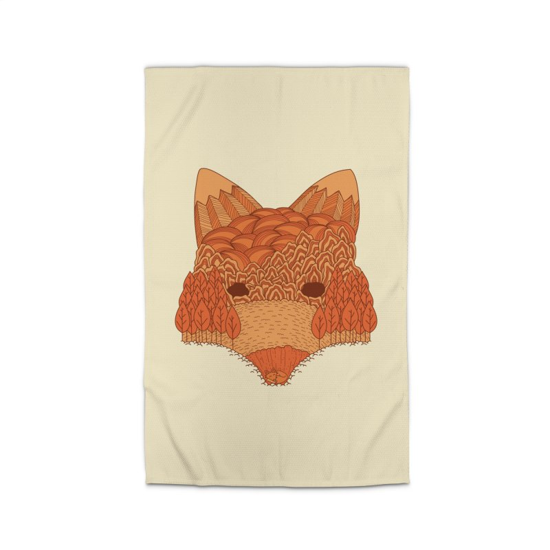 Where The Fox Hides Home Rug by monochromefrog
